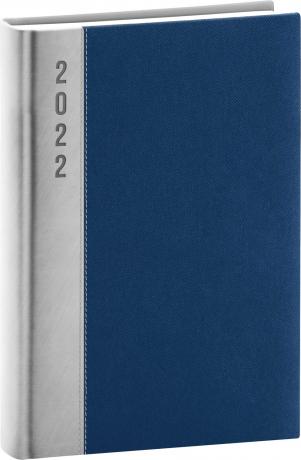 Denní diář Dakar 2022, stříbrnomodrý, 15 × 21 cm