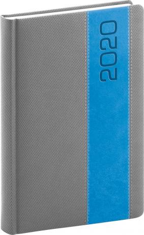 Daily diary Davos gray-blue 2020, 15 × 21 cm