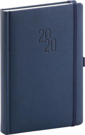 Denní diář Diamante 2020, modrý, 15 × 21 cm