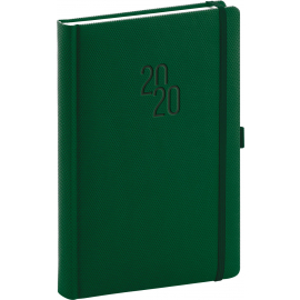 Denní diář Diamante 2020, zelený, 15 × 21 cm
