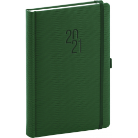 Daily diary Diamante green 2021, 15 × 21 cm