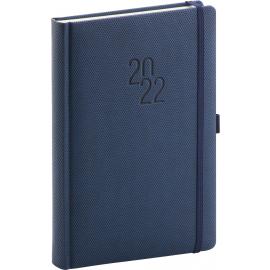 Denní diář Diamante 2022, modrý, 15 × 21 cm