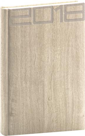Denní diář Forest 2018, krémový, 15 x 21 cm, A5