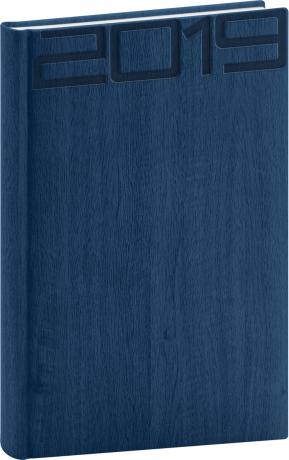 Denní diář Forest 2019, modrý, 15 x 21 cm