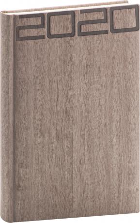 Denní diář Forest 2020, hnědý, 15 × 21 cm