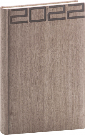 Denní diář Forest 2022, hnědý, 15 × 21 cm