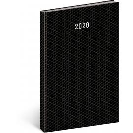 Daily diary Magnus 2020 black 21 × 29,7 cm