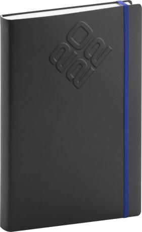 Denní diář Matra 2022, černomodrý, 15 × 21 cm