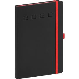 Daily diary Nox black-red 2020, 15 × 21 cm