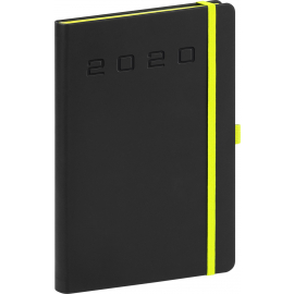 Daily diary Nox black-green 2020, 15 × 21 cm
