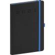 Denní diář Nox 2021, černý-modrý, 15 × 21 cm