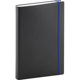 Daily diary Soft 2018, černomodrý, 15 x 21 cm, A5