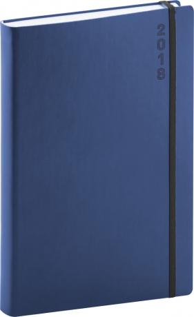 Denní diář Soft 2018, modročerný, 15 x 21 cm, A5