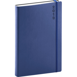 Daily diary soft blue-blue 2019, 15 x 21 cm