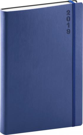 Denní diář Soft 2019, modrý, 15 x 21 cm