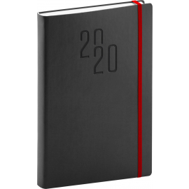 Daily diary Soft black-red 2020, 15 × 21 cm