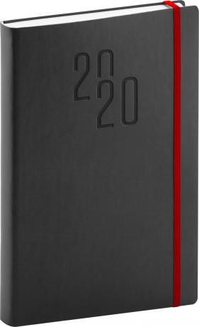 Denní diář Soft 2020, černý, 15 × 21 cm