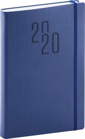 Denní diář Soft 2020, modrý, 15 × 21 cm