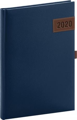 Denní diář Tarbes 2020, modrý, 15 × 21 cm