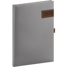 Daily diary Tarbes silver 2020, 15 × 21 cm