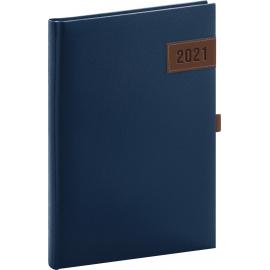 Denní diář Tarbes 2021, modrý, 15 × 21 cm