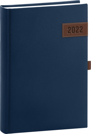 Denní diář Tarbes 2022, modrý, 15 × 21 cm