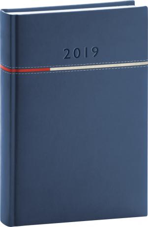 Denní diář Tomy 2019, modrý, 15 x 21 cm