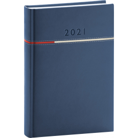 Daily diary Tomy blue-red 2021, 15 × 21 cm