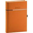 Denní diář Tomy 2022, oranžovočerný, 15 × 21 cm
