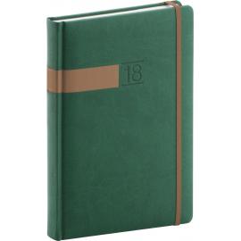 Daily diary Twill 2018, zelenobronzový, 15 x 21 cm, A5