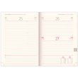 Daily diary Twill gray-gold 2020, 15 × 21 cm