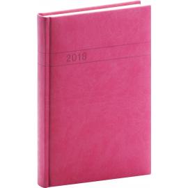 Daily diary Vivella 2018, magenta, 15 x 21 cm, A5