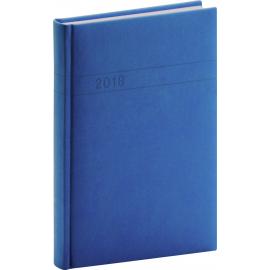 Denní diář Vivella 2018, modrý, 11 x 17 cm, B6