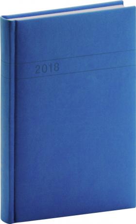 Denní diář Vivella 2018, modrý, 15 x 21 cm, A5