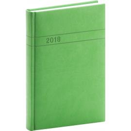 Daily diary Vivella 2018, zelený, 15 x 21 cm, A5