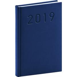 Denní diář Vivella Classic 2019, modrý, 15 x 21 cm