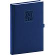 Denní diář Vivella Classic 2020, modrý, 15 × 21 cm