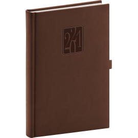 Daily diary Vivella Classic brown 2021, 15 × 21 cm