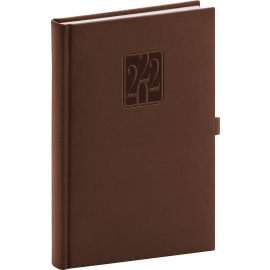 Daily diary Vivella Classic brown 2022, 15 × 21 cm