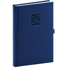 Daily diary Vivella Classic dark blue 2022, 15 × 21 cm