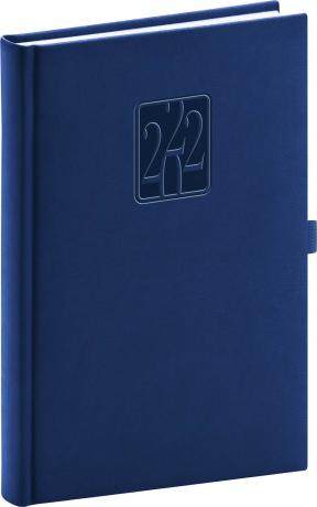 Denní diář Vivella Classic 2022, modrý, 15 × 21 cm