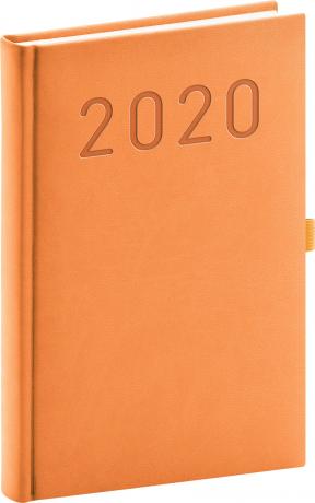 Denní diář Vivella Fun 2020, oranžový, 15 × 21 cm