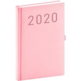 Denní diář Vivella Fun 2020, růžový, 15 × 21 cm