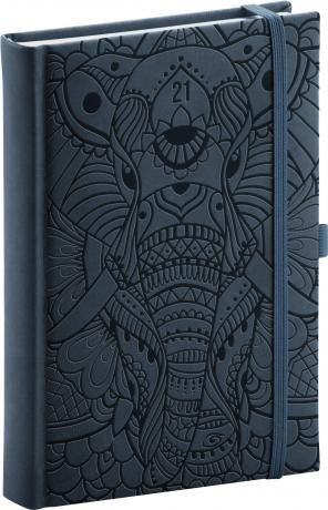 Denní diář Vivella Fun 2021, slon, 15 × 21 cm