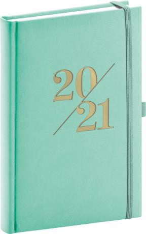 Denní diář Vivella Fun 2021, tyrkysový, 15 × 21 cm