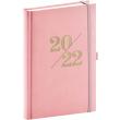 Denní diář Vivella Fun 2022, růžový, 15 × 21 cm
