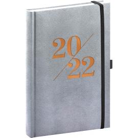 Denní diář Vivella Fun 2022, stříbrný, 15 × 21 cm
