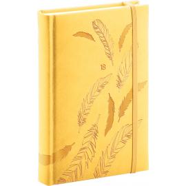 Denní diář Vivella speciál 2018, žlutý, 11 x 17 cm, B6