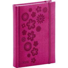 Denní diář Vivella Speciál 2019, růžový, 15 x 21 cm