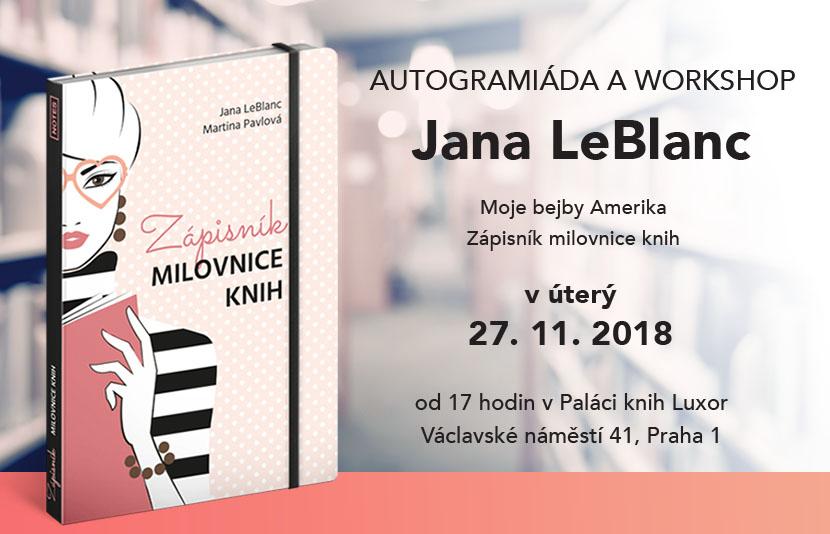 AUTOGRAMIÁDA A WORKSHOP - Jane LeBlanc